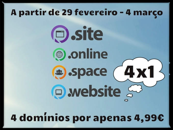 Feliz Leap Year para domínios .online, .site, .website e .space!